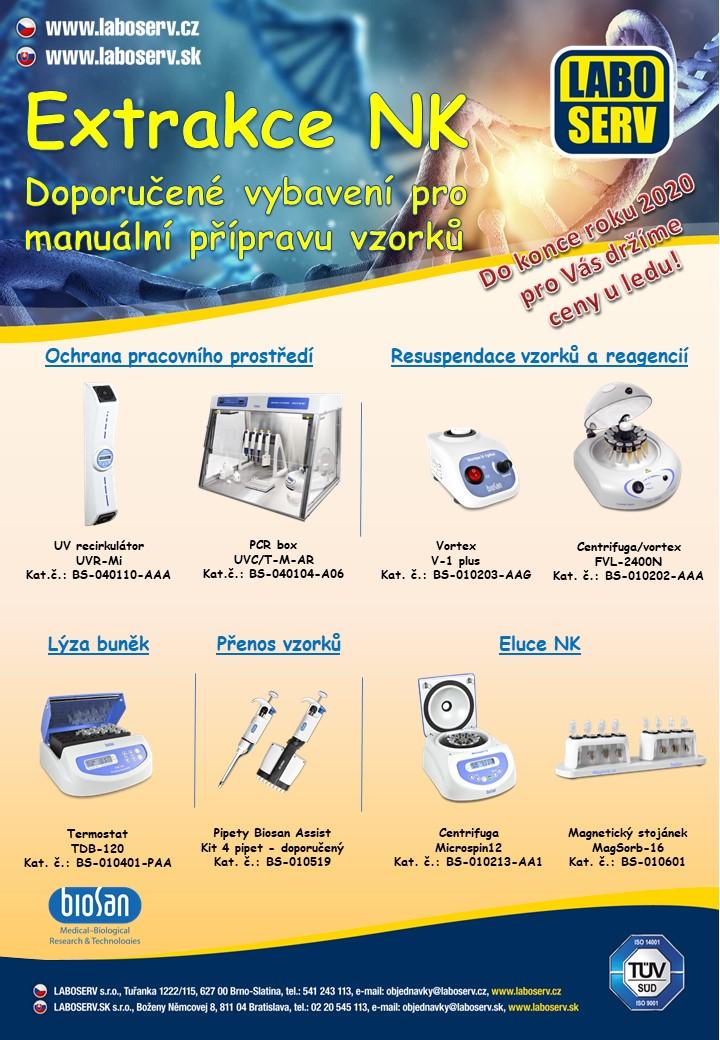 Vybavení pro extrakci nukleových kyselin